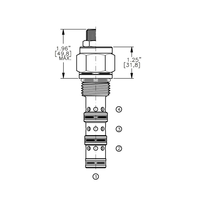 Bucher DCPS-12-F 3-way Directional Control Valve, Spool Type F