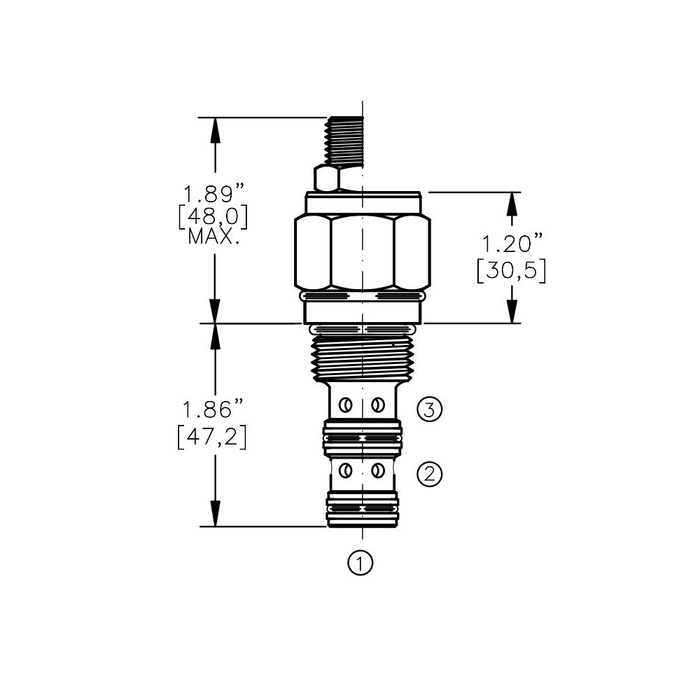 Bucher DCPV-10-C 2-way Directional Control Valve